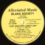 Blakk Society Featuring David Hollister - Just Another Lonely Day